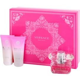 Versace Bright Crystal подарунковий набір IV  Туалетна вода 50 ml + Молочко для тіла 50 ml + Гель для душу 50 ml