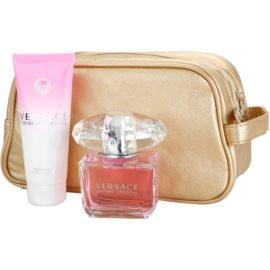 Versace Bright Crystal coffret XVII. Eau de Toilette 90 ml + leite corporal 100 ml + bolsa de cosméticos