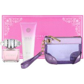 Versace Bright Crystal lote de regalo  eau de toilette 90 ml + leche corporal 100 ml + bolsa para cosméticos 24 x 5 x 15 cm