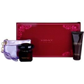 Versace Crystal Noir set cadou XIV. Eau de Parfum 90 ml + Lotiune de corp 100 ml + poseta