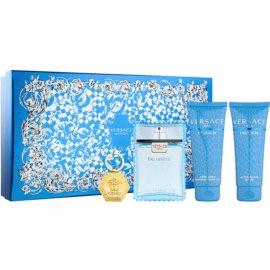 Versace Eau Fraîche Man lote de regalo XXII.  eau de toilette 100 ml + bálsamo after shave 100 ml + gel de ducha 100 ml + llavero