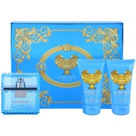 Versace Eau Fraîche Man darčeková sada VII. toaletná voda 50 ml + sprchový gel 50 ml + balzam po holení 50 ml