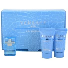 Versace Eau Fraîche Man zestaw upominkowy IX. woda toaletowa 5 ml + żel pod prysznic 25 ml + balsam po goleniu 25 ml