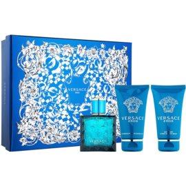 Versace Eros darilni set XIII.  toaletna voda 50 ml + gel za prhanje 50 ml + balzam za po britju 50 ml