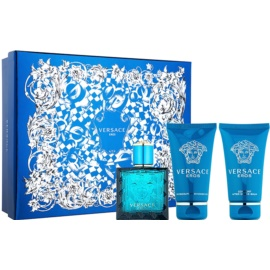 Versace Eros set cadou XIII.  Apa de Toaleta 50 ml + Gel de dus 50 ml + After Shave Balsam 50 ml