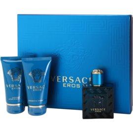 Versace Eros dárková sada VI. toaletní voda 50 ml + balzám po holení 50 ml + sprchový gel 50 ml