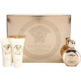 Versace Eros Pour Femme set cadou I.  Eau de Parfum 50 ml + Gel de dus 50 ml + Lotiune de corp 50 ml