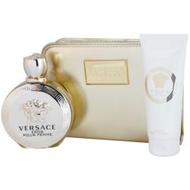 Versace Eros Pour Femme confezione regalo V  eau de parfum 100 ml + latte corpo 100 ml + borsetta