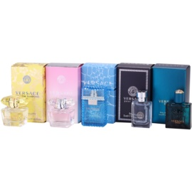 Versace Miniatures Collection dárková sada IV. Yellow Diamond + Bright Crystal + Man + Pour Homme + Eros toaletní voda 5 x 5 ml