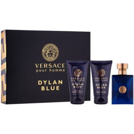 Versace Dylan Blue set cadou II.  Apa de Toaleta 50 ml + Gel de dus 50 ml + After Shave Balsam 50 ml