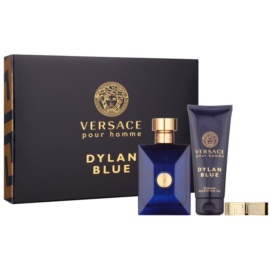 Versace Dylan Blue set cadou III  Apa de Toaleta 100 ml + Gel de dus 100 ml + clipsuri pentru notițe