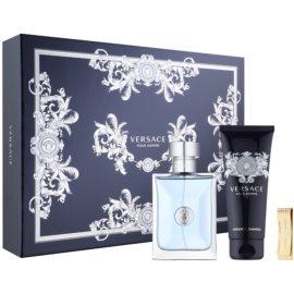 Versace Pour Homme Geschenkset XVIII.  Eau de Toilette 100 ml + Shampoo für den ganzen Körper 100 ml