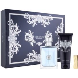 Versace Pour Homme Gift Set  XVIII.  Eau de Toilette 100 ml + Shampoo voor het hele Lichaam  100 ml + Geldclip