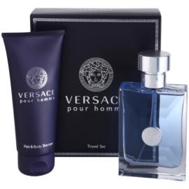Versace Pour Homme Geschenkset IV. Eau de Toilette 100 ml + Duschgel 100 ml