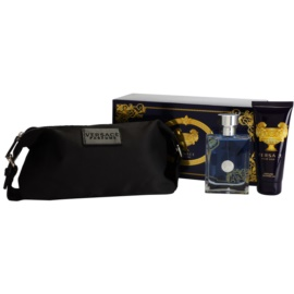 Versace Pour Homme Geschenkset VII. Eau de Toilette 100 ml + Duschgel 100 ml + Kosmetiktasche 25 x 10,5 x 12 cm