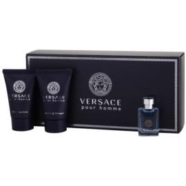 Versace pour Homme подарунковий набір ІХ  Туалетна вода 5 ml + Шампунь 25 ml + Бальзам після гоління 25 ml
