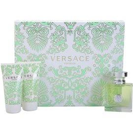 Versace Versense подарунковий набір ХV  Туалетна вода 50 ml + Молочко для тіла 50 ml + Гель для душу 50 ml