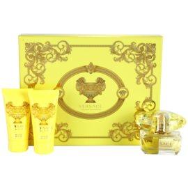 Versace Yellow Diamond darčeková sada IV. toaletná voda 50 ml + telové mlieko 50 ml + sprchový gel 50 ml