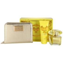 Versace Yellow Diamond ajándékszett VII. Eau de Toilette 90 ml + testápoló tej 100 ml + pénztárca 18 × 3 × 14 cm