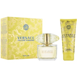 Versace Yellow Diamond darilni set IX. toaletna voda 90 ml + losjon za telo 100 ml