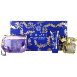 Versace Yellow Diamond Intense Gift Set I.  Eau De Parfum 90 ml + Body Milk 100 ml + Cosmetic Bag