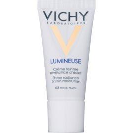 Vichy Lumineuse rozjasňujúci tónovací krém pre normálnu až zmiešanú pleť odtieň 02 Peach/Peache  30 ml