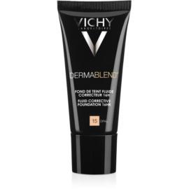 Vichy Dermablend prebase de maquillaje correctora con factor de protección solar UV tono 15 Opal  30 ml
