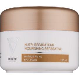 Vichy Dercos Nutri Reparateur hranilna maska za suhe in poškodovane lase  200 ml