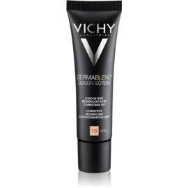 Vichy Dermablend 3D Correction base de maquillaje alisadora SPF 25 tono 15 Opal  30 ml
