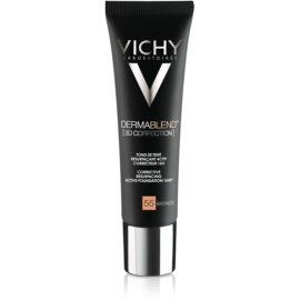 Vichy Dermablend 3D Correction base de maquillaje alisadora SPF 25 tono 55 Bronze  30 ml
