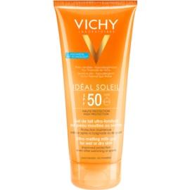 Vichy Idéal Soleil ultratající mléčný gel pro vlhkou nebo suchou pokožku SPF 50  200 ml