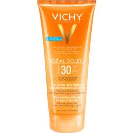 Vichy Idéal Soleil Gel leitoso para peles secas de fácil aplicação SPF 30   200 ml