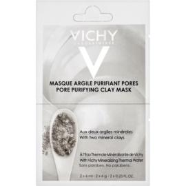 Vichy Mineral Masks masca facială pentru curatarea tenului  2 x 6 ml