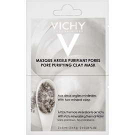 Vichy Mineral Masks mascarilla facial limpiadora de arcilla  2 x 6 ml