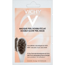 Vichy Mineral Masks Brightening Peel Face Mask Small Pack  2 x 6 ml