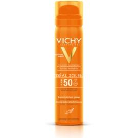 Vichy Idéal Soleil orzeźwiający spray do opalania twarzy SPF 50  75 ml