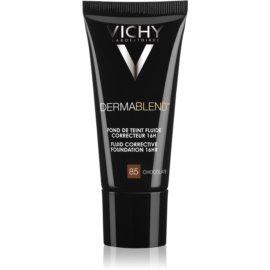 Vichy Dermablend prebase de maquillaje correctora con factor de protección solar UV tono 85 Chocolate 30 ml