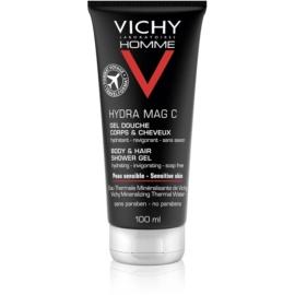 Vichy Homme Hydra-Mag C sprchový gél na telo a vlasy  100 ml