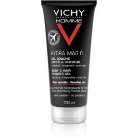 Vichy Homme Hydra-Mag C tusfürdő gél testre és hajra  100 ml