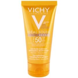 Vichy Idéal Soleil Bronze хидратиращ гел - флуид за лице, оптимизиращ загара SPF 50  50 мл.