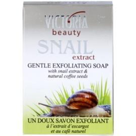 Victoria Beauty Snail Extract jemné exfoliační mýdlo se šnečím extraktem a výtažkem z kávy  75 g