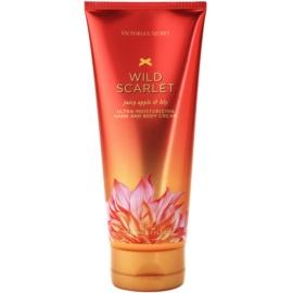 Victoria's Secret Wild Scarlet tělový krém pro ženy 200 ml