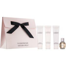 Viktor & Rolf Flowerbomb darčeková sada VII. parfémovaná voda 7 ml + telové mlieko 15 ml + telové mlieko 15 ml + sprchový gel 15 ml