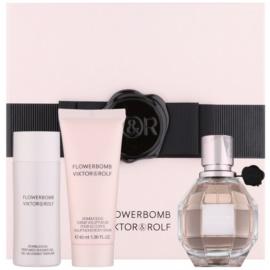 Viktor & Rolf Flowerbomb ajándékszett III.  Eau de Parfum 50 ml + tusfürdő gél 50 ml + testápoló krém 40 ml