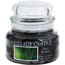 Village Candle Black Bamboo ароматна свещ  269 гр. малка