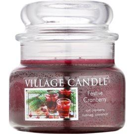 Village Candle Festive Cranberry ароматна свещ  269 гр. малка