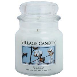Village Candle Pure Linen dišeča sveča  397 g srednja