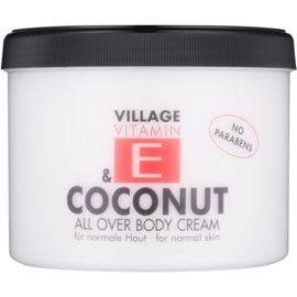 Village Vitamin E Coconut krema za telo brez parabenov  500 ml