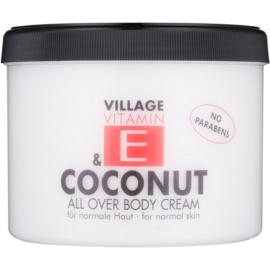 Village Vitamin E Coconut Körpercreme parabenfrei  500 ml