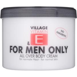 Village Vitamin E For Men Only Body Cream paraben-free
